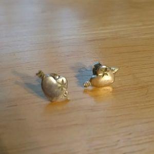 Arrow through heart earrings Sterling